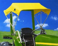 Snowco 48  Sunshade Replacement Cover ONLY - Yellow Canvas (Buggy Top Style). & Snowco 48